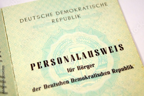 Photo  Personalausweis DDR
