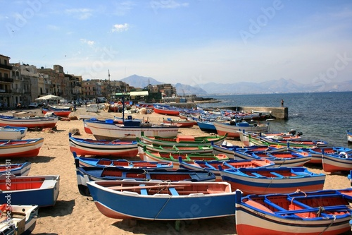 Bagheria, la spiaggia di Aspra Canvas Print