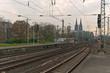 Kölner Dom, Hohenzollernbrücke, Bahngleis