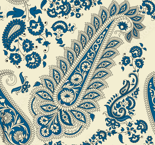 Fotografie, Obraz Seamless paisley  pattern