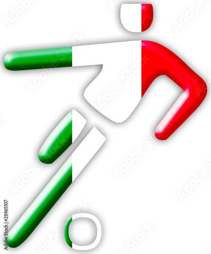 Italien Fussballspieler Fussball Symbol Buy This Stock