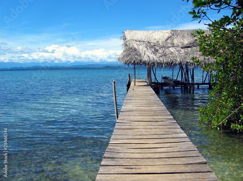 Foto Dock over the Caribbean sea, Bocas del Toro, Panama