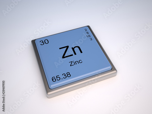 Zinc chemical element of the periodic table with symbol Zn - Buy ...