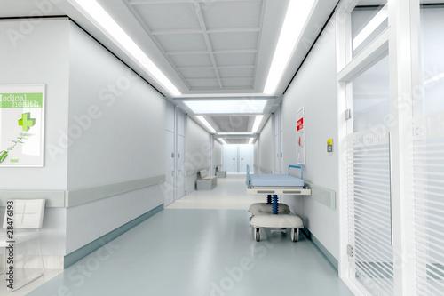 Fotografie, Obraz  Hospital corridor