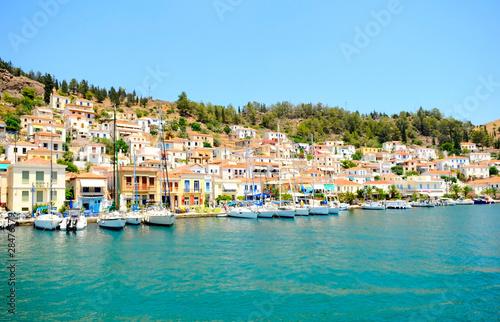 Poster Ligurie town on greek island