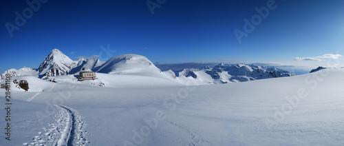 Fototapeta zima panorama-zimowych-alp