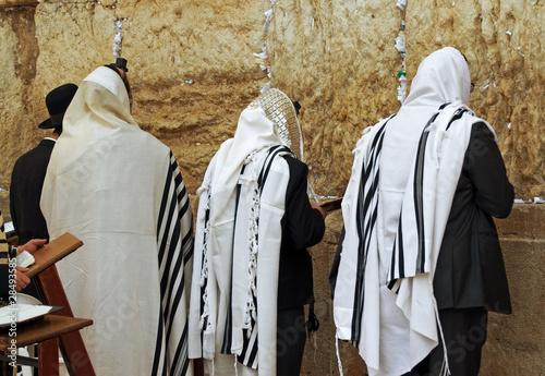 Gerusalemme - Preghiera davanti al muro del pianto Canvas Print
