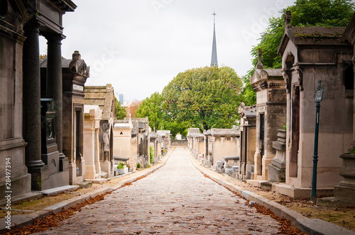 Foto op Canvas Begraafplaats Pere-lachaise cemetery, Paris, France