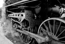 Wheels Of An Old Steam Locomot...