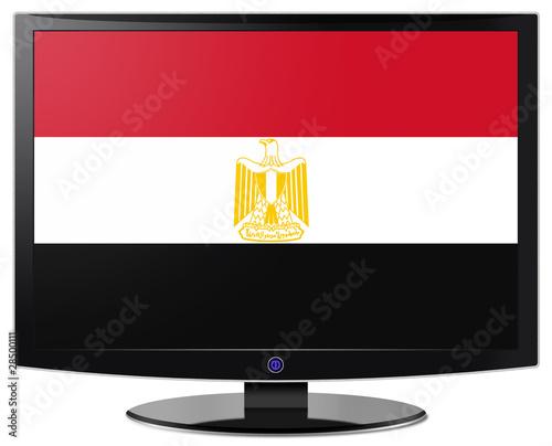 Fototapeta Flatscreen With Flag Of Egypt