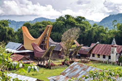 Foto op Aluminium Indonesië Toraja Traditional Village