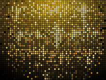 Sparkling Gold Mosaic Background