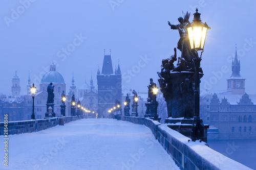 Poster Prague prague charles bridge