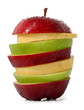 Mixed Fruits; Red Apple, Green Apple and Yellow Pear