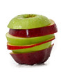 Mixed Red and Green Apple