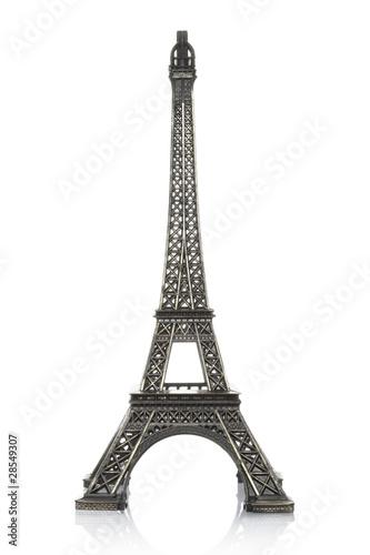 Deurstickers Eiffeltoren Eiffel tower with clipping path
