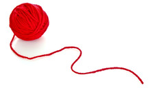 Red Ball Of Woollen Red Thread...