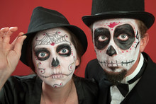 Couples With All Souls Day Make Up