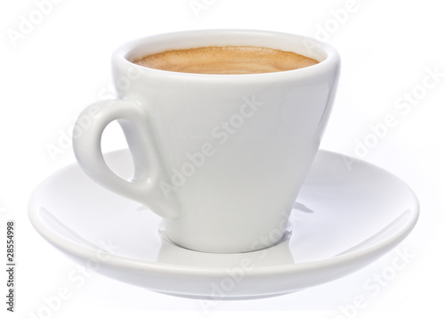 Photo  Cup of espresso Coffee isolated over white
