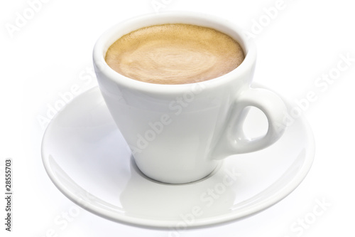 Cup of espresso Coffee isolated over white Poster