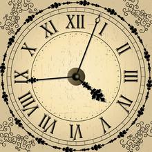 Vector Old Clock