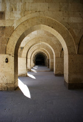 Fototapeta Turkish caravansary cloisters in Anatolia