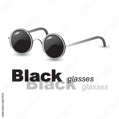 Photo  Black glasses