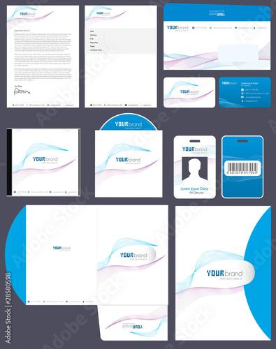 Fotografie, Obraz  Corporate Identity Kit | Wave Pattern