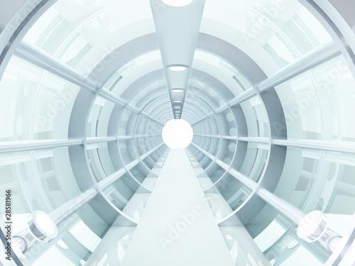 Naklejki abstrakcyjne  tunel-futurystyczny