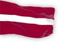 Latvia flag slowly waving. White background. Seamless loop.