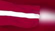 Latvia flag slowly waving. Blurred background. Seamless loop.