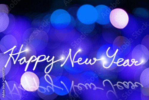 happy new year lighting background