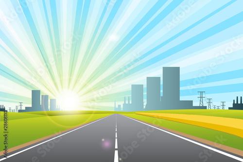 Fototapeta road in city obraz na płótnie