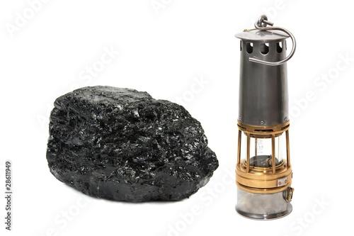 Bloc de charbon - Lampe à flamme