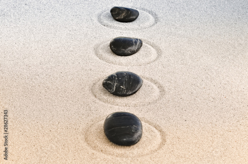 Photo sur Plexiglas Zen pierres a sable zen