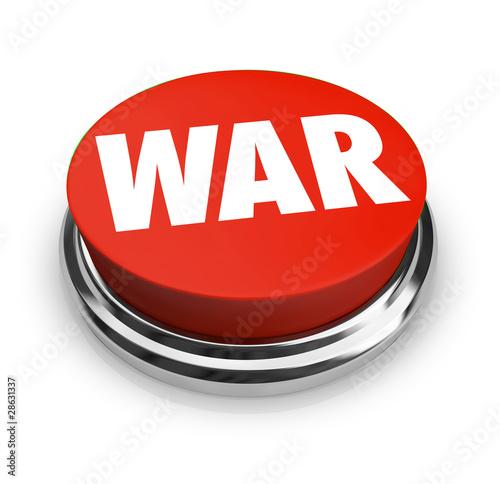 Photo War - Word on Round Red Button