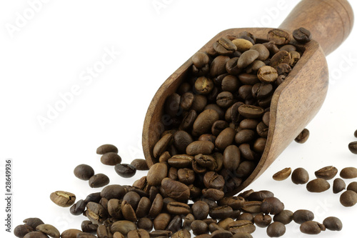 Printed kitchen splashbacks Coffee beans café en grains