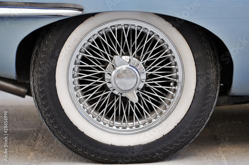 Fotografie, Obraz  Sports Car Wheel from a E-Type Jaguar