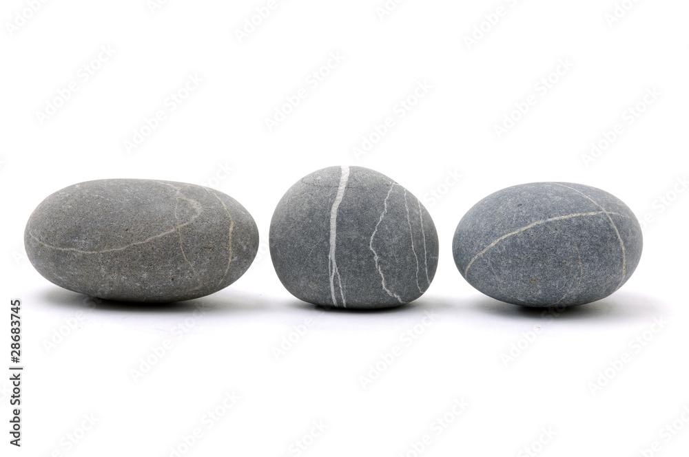 Fototapety, obrazy: Three Nice round stones