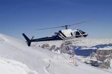 Helicopter Landing In Ski Region