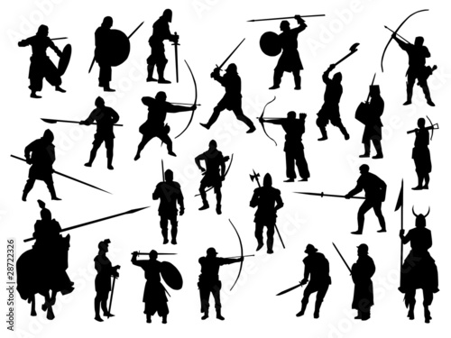 Obraz Weapon collection, medieval warriors - fototapety do salonu
