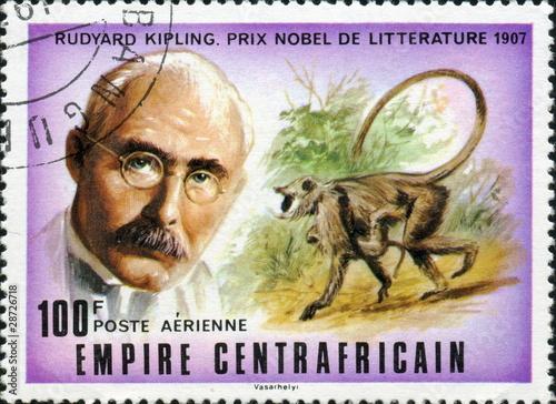 Photo  Rudyard Kipling, prix Nobel de littérature 1907.