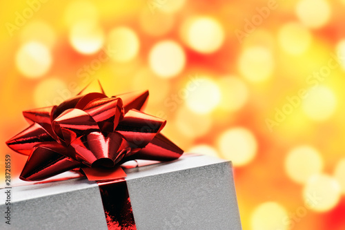 gift box with shiny background