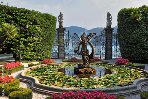 Lake Como, Villa Carlotta Canvas Print