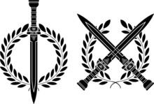 Roman Swords And Wreath