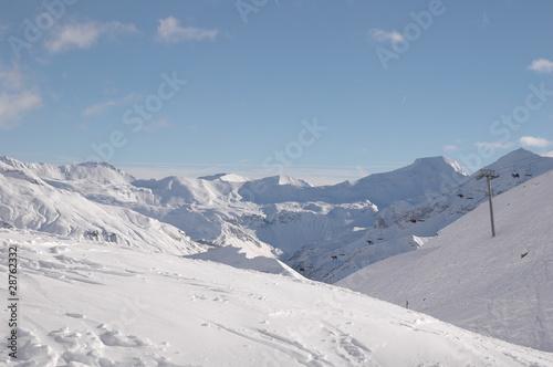 Fotografie, Obraz  pistes de ski d'orcières 1850