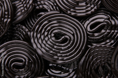 Keuken foto achterwand Snoepjes Liqcorice: Lakritzschnecken