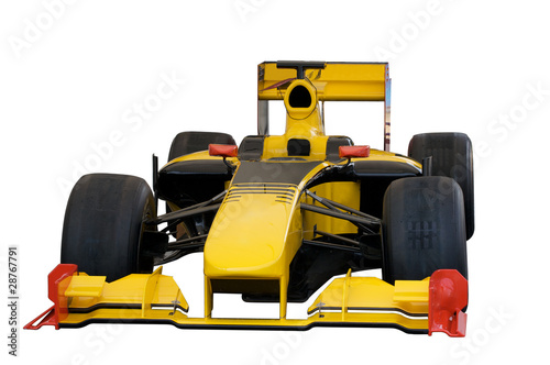 Foto op Plexiglas F1 Yellow car