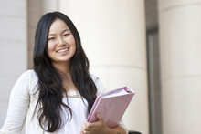 Attractive Asian College Student Portrait