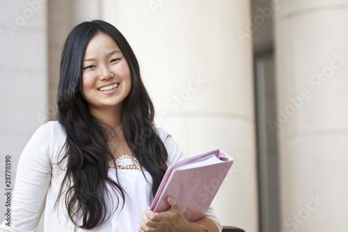 Valokuva  Attractive Asian college student portrait